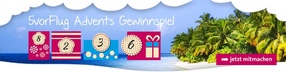 5vorFlug Winter-Gewinnspiel - Wir fliegen auf Weihnachten!
