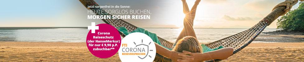 Das FTI Corona-Reiseversprechen