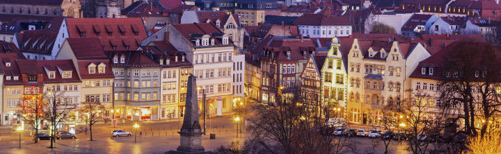 Altstadt Erfurt bei Nacht