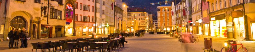 Blick Innsbrucker Innenstadt