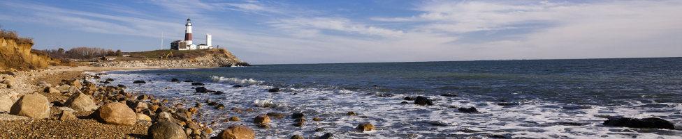 Long Island mit Blick auf den Leuchtturm