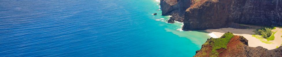 Blick auf Oahu auf Hawaii