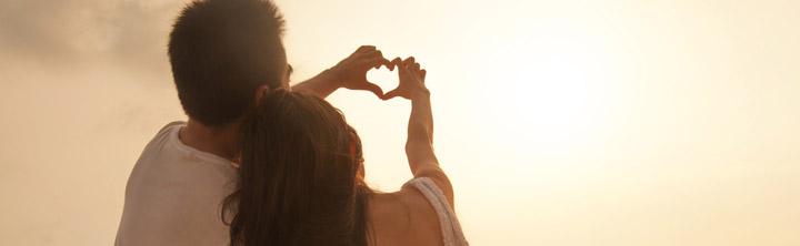 Romantische Stunden in der Sonne
