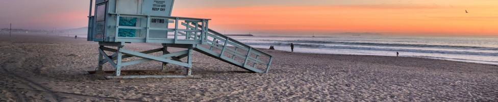 Long Beach - Blick aufs Meer und Sandstrand