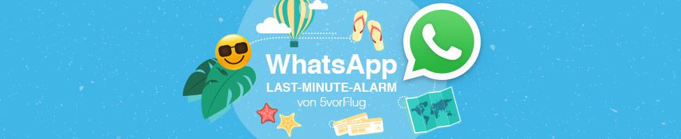 Immer up to date mit dem WhatsApp Service von 5vorFlug