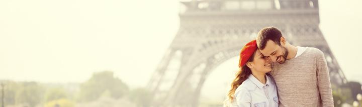 Paris Urlaub über den Valentinstag